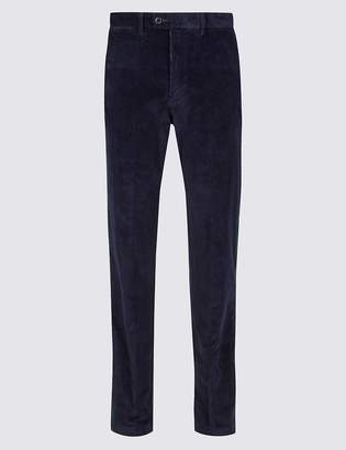 M&S CollectionMarks and Spencer Regular Fit Corduroy Trousers with Stretch