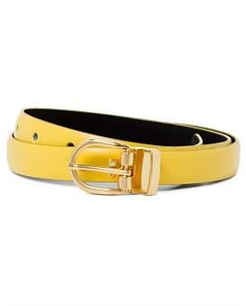 Linea Alta 19Mm Plain Belt With Lt Gold Buckle