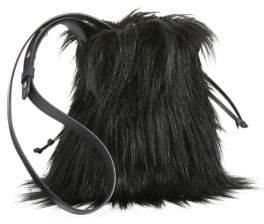 Simone Rocha Faux Fur Pouch Bag