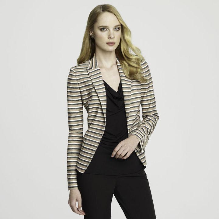 Anne Klein Linen Stripe Blazer