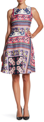 Donna Morgan Sleeveless Fit & Flare Print Dress $138 thestylecure.com