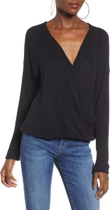 Socialite Faux Wrap Sweater