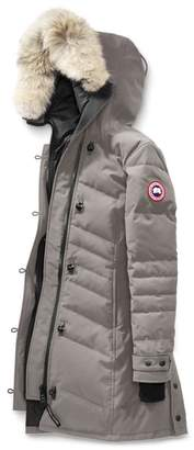 Canada Goose Lorette Hooded Down Parka with Genuine Coyote Fur Trim