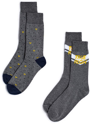 True Religion TRUE RLGN CREW SOCK - 2 PK