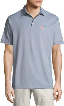 Peter Millar Men's University of Miami Jubilee Stripe Polo Shirt
