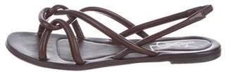 Saint Laurent Leather Slingback Sandals