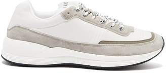 A.P.C. Running Technical Canvas Trainers - Mens - White