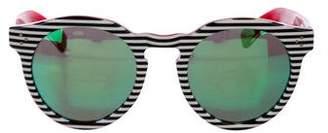 Illesteva Printed Mirrored Sunglasses