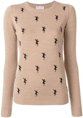 Sonia Rykiel embroidered panther jumper