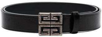 Givenchy black 4G leather belt
