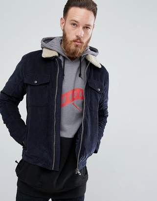 Jack and Jones Vintage Cord Jacket With Fleece Collar