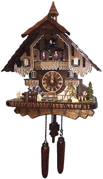 Musical Quartz Chalet Hiker Clock