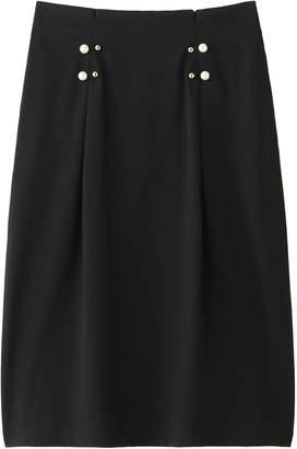Muveil (ミュベール) - ミュベール パール付ジャージスカート