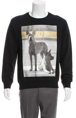 Palm Angels Printed Crew Neck Sweater