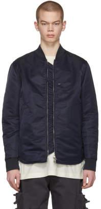 Acne Studios Blue Mylon Shine Bomber Jacket