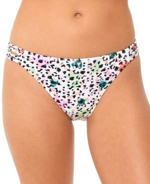 Macy's Salt + Cove Juniors' Waiting Fur Tonight Strappy-Side Hipster Bikini Bottoms, Created for Women's Swimsuit