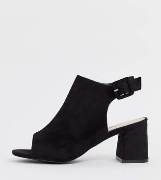 Glamorous Wide Fit wide fit black open shoe boots