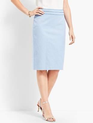 Talbots Birdseye Pencil Skirt