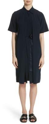 Rosetta Getty Split Front Stretch Silk Dress