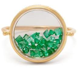 Aurelie Bidermann Fine Jewellery Fine Jewellery - Chivor 18kt Gold And Emerald Ring - Womens - Green
