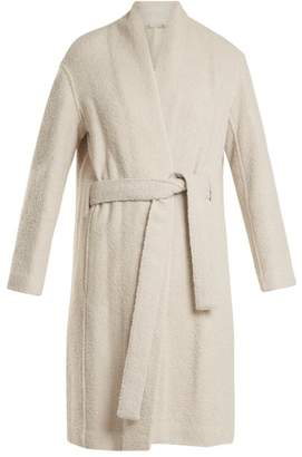 Vince Tie Waist Wool Blend Coat - Womens - Cream