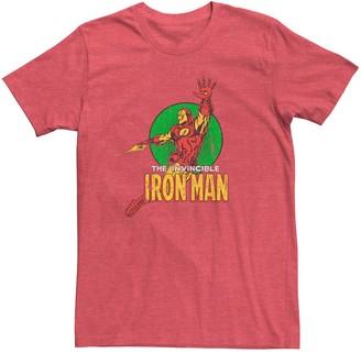 Iron Man Licensed Character Men's Marvel Vintage Art Pose Tee