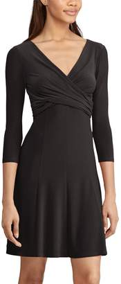 Chaps Petite Crossover Fit & Flare Dress