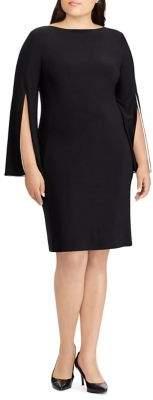 Lauren Ralph Lauren Plus Jersey Split-Sleeve Dress