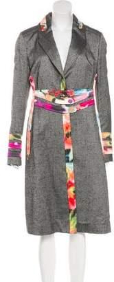 Zac Posen Silk-Blend Long Coat