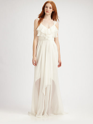 Badgley Mischka Silk Gown