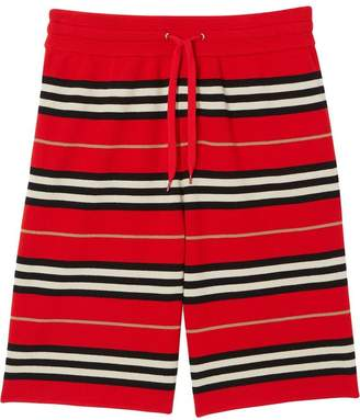 Burberry drawcord striped shorts