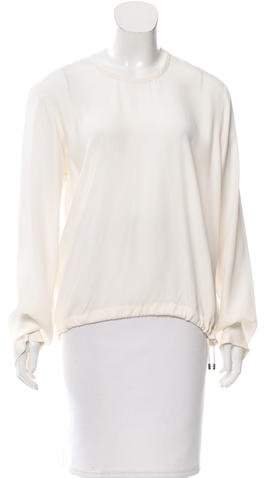 Tom Ford Long Sleeve Gathered Blouse
