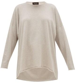 eskandar Boat Neck Cashmere Sweater - Womens - Light Grey