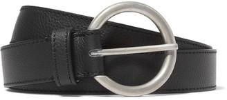 Maison Margiela - Textured-leather Belt - Black $340 thestylecure.com