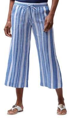 Tommy Bahama Striped Wide-Leg Cropped Pants