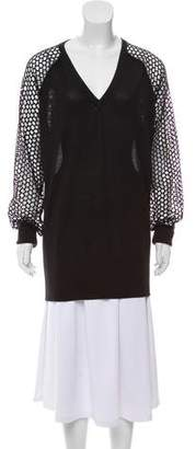 Reed Krakoff Cashmere-Accented Crew Neck Sweater