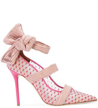 Malone Souliers By Roy Luwolt lace pumps with ribbon trim