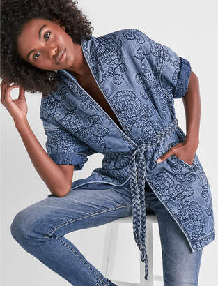 Lucky Brand FLORAL QUILTED KIMONO
