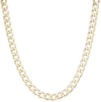 FINE JEWELRY Mens 18K Yellow Gold Over Silver 8.8mm 20 Curb Chain Necklace