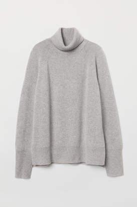 H&M Cashmere Turtleneck Sweater - Gray