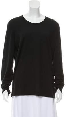 Loro Piana Cashmere Scoop Neck Sweater Black Cashmere Scoop Neck Sweater
