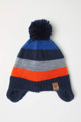 H&M Fleece-lined Hat with Earflaps - Orange