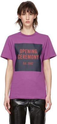 Opening Ceremony Purple Box Logo T-Shirt