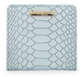 GiGi New York Mini Embossed Python Folding Wallet