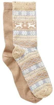 Hue Fair Isle Boot Socks - Pack of 2