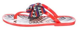 Missoni Jelly Thong Sandals