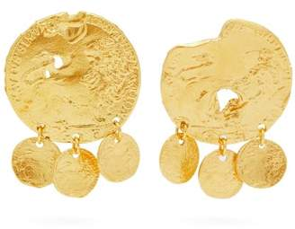 Alighieri - Baby Lion Gold Plated Earrings - Womens - Gold