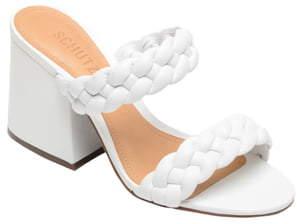 Schutz Elida Block Heel Slide Sandal