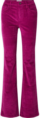 Current/Elliott The Jarvis Stretch Cotton-blend Corduroy Flared Pants - Fuchsia