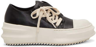 D.gnak By Kang.d Black and Off-White Side Laced Sneakers